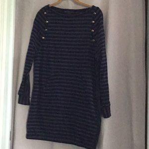 100% Cotton Stripped Knit Dress